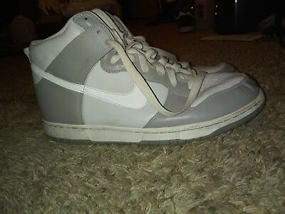 info for dc7b0 8be72 NIKE HIGH DUNK Ac Whitewhite-Soft Grey 398263-100 Mens Size