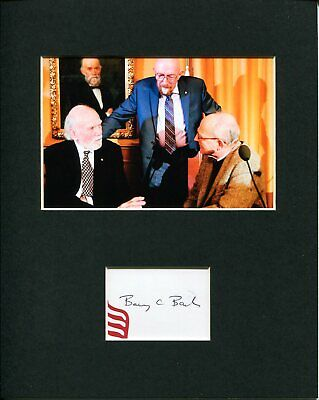 Barry Barish 2017 Nobel Prize Physics Rare Signed Autograph Photo Display