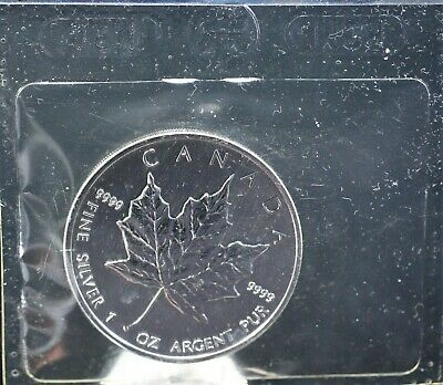 Canada 2002 Pure Silver Maple Leaf Sealed in Thermotron. 1760