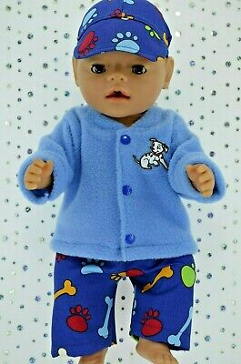 """Play n Wear Doll Clothes To Fit 17"""" Baby Born PATTERN PANTS~POLAR FLEECE TOP~CAP"""