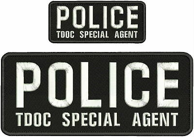 WILTON MANORS POLICE K9 UNIT EMB patches 4x10 AND 2X5 hook on back//black GRAY