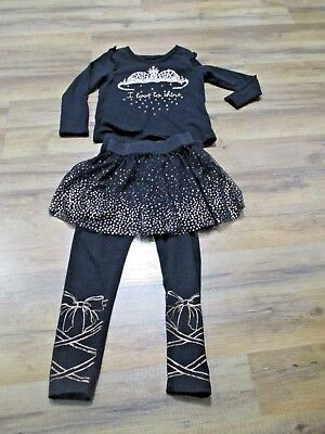 bca4fd2c987a EPIC THREADS GIRLS Black Long Sleeve Top And Pants Heart Pattern ...
