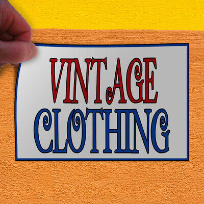 Decal Sticker Vintage Clothing Vintage Vintage Clothing Outdoor Store Sign Red