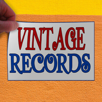 Decal Sticker Vintage Records Vintage Vintage Records Outdoor Store Sign Red