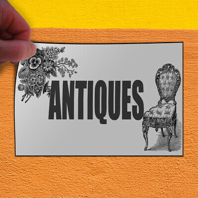 Decal Sticker Antiques Business Style B Vintage Antique Outdoor Store Sign