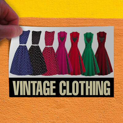 Decal Sticker Vintage Clothing #1 Style A Vintage Vintage Clothing Store Sign