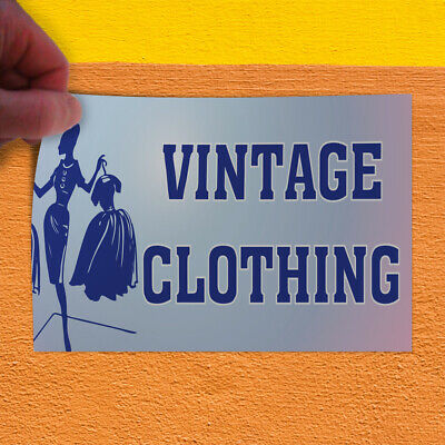 Decal Sticker Vintage Clothing #1 Vintage vintage Outdoor Store Sign white