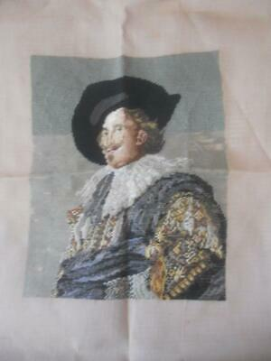 Part Worked Vintage Tramme Tapestry Canvas Laughing Cavalier No Yarn Included