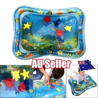 Inflatable Water Play Mat Infant Fun Tummy Time Kids Baby Play Activity Center E