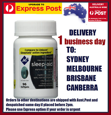 Members Mark Sleep Aid Diphenhydramine 50mg DOUBLE STRENGTH Exp 9/20 AU stocks