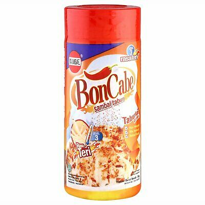Kobe Bon Cabe with Anchovy (Teri) Sprinkle Chili Flakes Level 3, 50 Gram