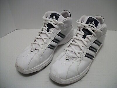 69a0b7bac83 Adidas Adiprene White Leather Perforated 2005 Men s Basketball Shoes US Size  13