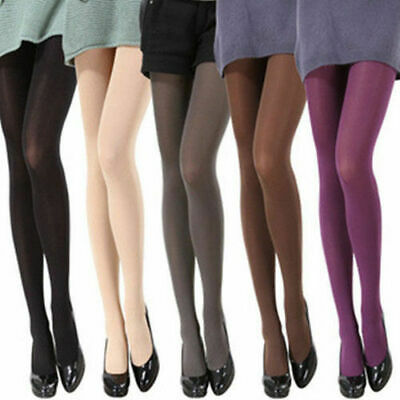Fashion Womens Solid Skinny Opaque Footed Tights Pantyhose Stocking Socks