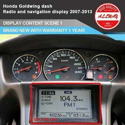 Honda Gold wing GL1800 2007~2013 Gauge Cluster Dashboard GPS Radio LCD Display