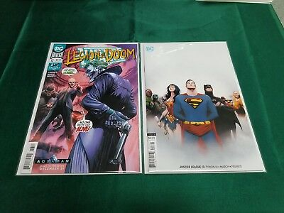 Justice League 13 2018 Main March Cover + Lee Variant DC Comics 2018 NM+