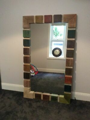 Unique Art Deco Grand Wooden Frame Mirror - North Sydney