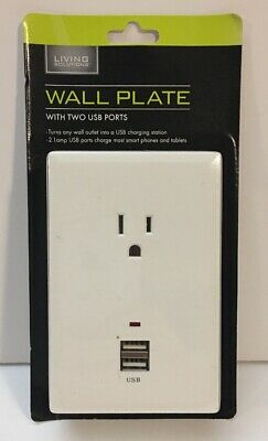 Brand New! Charging Station With 2 USB Ports & 1 AC Outlet Wall Plate.