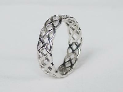 Sovats Women Stack Twist Rope Thumb RIng For Women 925 Silver Ring Size 5-12