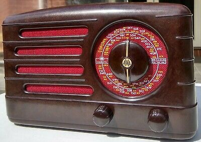 Vintage Radio Speaker Cloth (Cherry)