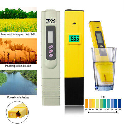 Digital pH Meter LCD TDS Water Purity PPM Filter Hydroponic Pool Tester Pen NEW