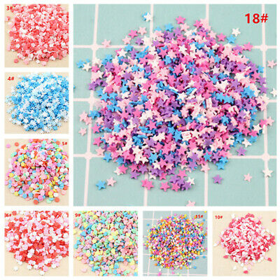 100g DIY Polymer Clay Fake Candy Sugar Sprinkle For Phone Case Decorations