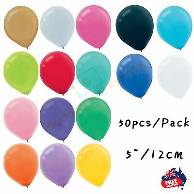 "5""/12cm Latex Balloons Small Mini Balloons Pack of 50 BIRTHDAY PARTY WEDDING"