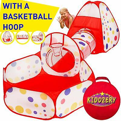 3 In 1 Children Kids Baby Pet Play Tent Tunnel Ball Pit Playhouse Pop Up Tent Uk