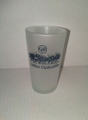 CUB Carlton Clydesdales frosted beer glass