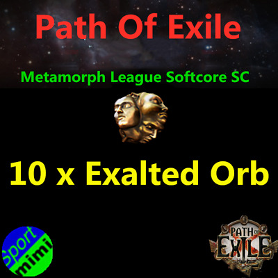 5 x Exalted Orb Path of Exile POE Currency Blight League Softcore SC 5 ex Item