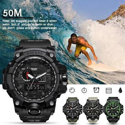 SMAEL Waterproof Sports Military Shock Men's Analog Quartz Digital Watches AU