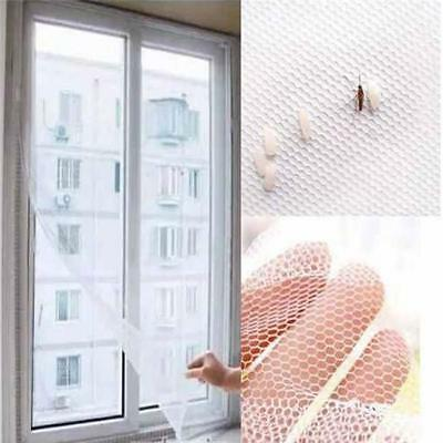 White Home Window Screen Mesh Net Insect Fly Bug Mosquito Moth Door Netting MP