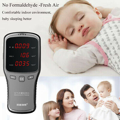 Home Office Safety Air Quality Monitor HCHO TVOC PM2.5/10 Formaldehyde Detector