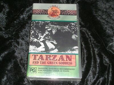 Tarzan And The Green Goodess Vhs Video Pal~ A Rare Find~Mint Sealed