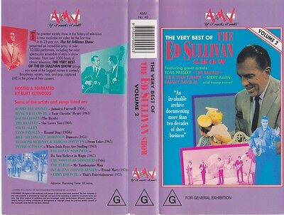 The Very Best Of The Ed Sullivan Show  Vhs Pal Video  A Rare Find
