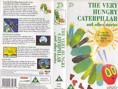 The Very Hungry Caterpillar  Vhs Video Pal~ A Rare Find