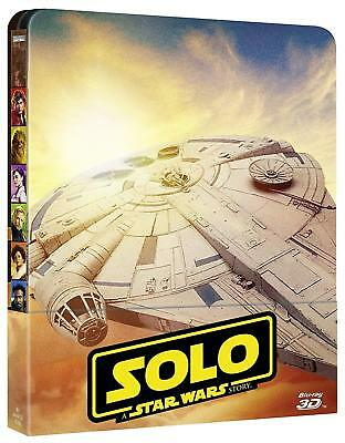 Blu Ray 3D + 2D : Star Wars Solo A star Wars Story - Ed Steelbook - NEUF
