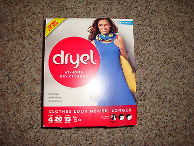 dryel At-Home Dry Cleaner Starter, Cleans 4 Loads, Up To 20 Garments