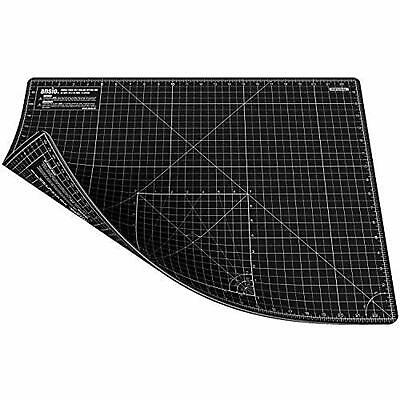 ANSIO A2 Double Sided Self Healing 5 Layers Cutting Mat Imperial/Metric - Black