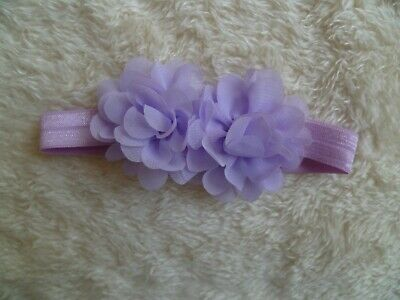 Baby clothes GIRL premature/tiny<7.5lbs/3.4kgcute mauve flowers special headband