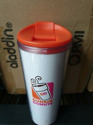 Dunkin Donuts coffee 16oz cup mug travel dishwasher safe BPA free teacher logo