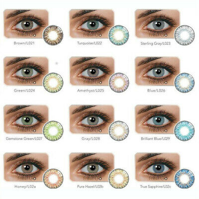 1 Pair Beauty Makeup Cosmetic 12 Colors Contacts Eye Lenses Blends Cosplay