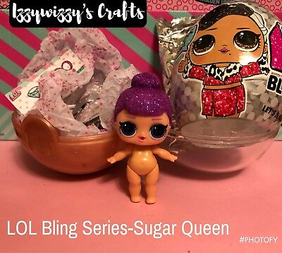 Some unwrap to ID LOL Surprise BLING Holiday series Sugar Queen Free Ship!