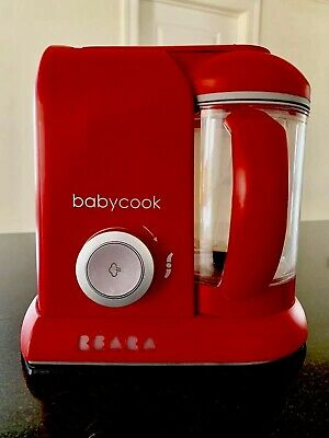 Beaba Babycook Cloud Red 4-In-1 Steam~Blend~Defrost~Reheat~Euc~Ships Fasst!!