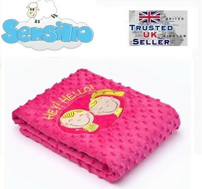 Soft Baby Warm two-sided BLANKET with 3D embroidery nursery 75x100 cm Sensillo