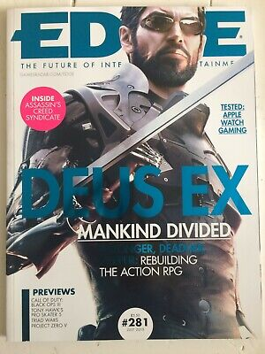 Edge Magazine July 2015 #281 - Deus Ex Mankind Divided (Subscriber Cover)