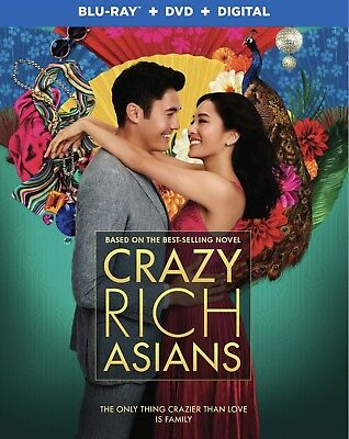 Crazy Rich Asians(Blu-Ray+Dvd+Digital)W/slipcover New Free Shipping