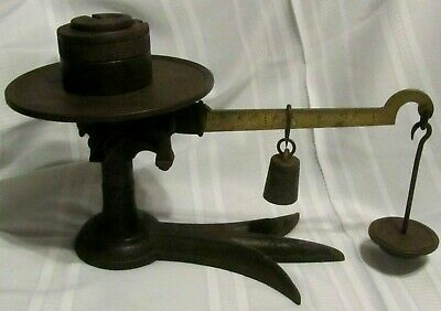 Vintage Antique Large Cast Iron Fairbanks Slide/Weight Counter Style Scale Store