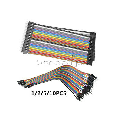 1/2/5/10PCS 20cm 2.54MM 1P-1P Male to Female 40pin Dupont Wire Jumper Cables