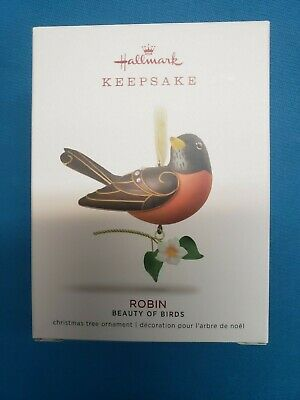 2018 Hallmark Keepsake Ornament  Robin  Beauty of Birds #14 in series NIB