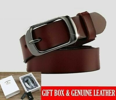 Women's Belts Genuine Leather Brand Straps Waistband Pin Buckles Fancy Vintage